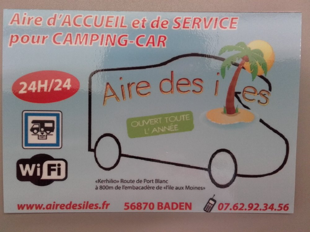 Aire camping-car à Baden (56870) - Photo 2
